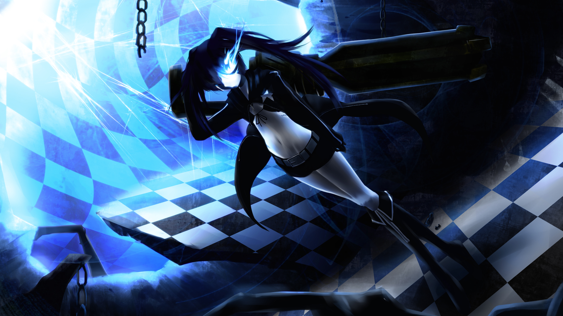 black rock shooter full hd wallpaper and background