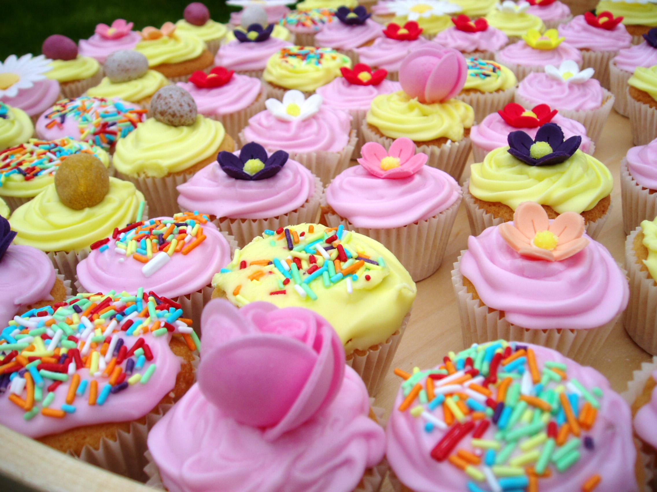 Alimento - Cupcake  - Pink - Cream Fondo de Pantalla