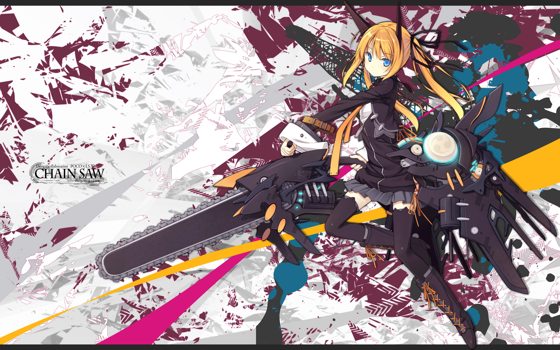 Chainsaw hd wallpaper background image 1920x1200 id - Abstract anime girl ...