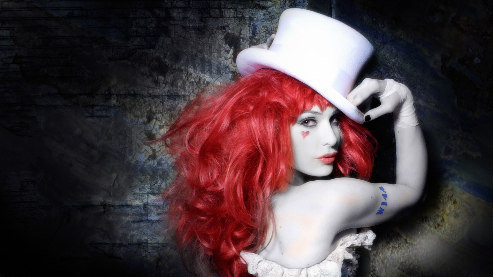Music - Emilie Autumn  - Gorgeous - Babes - Pretty - Actress - Musician - Woman - Lady - Hot - Emilie - Red - Violin - Heart - Model - Women  - Entropy - Wallpapers Wallpaper