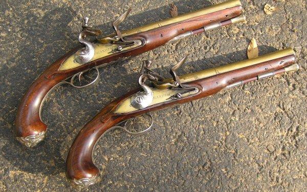 Weapons Flintlock Pistol HD Wallpaper   Background Image