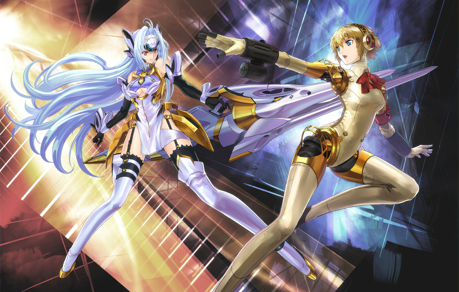 Video Game - Crossover  Xenosaga Persona Aigis (Persona) KOS-MOS (Xenosaga) Wallpaper