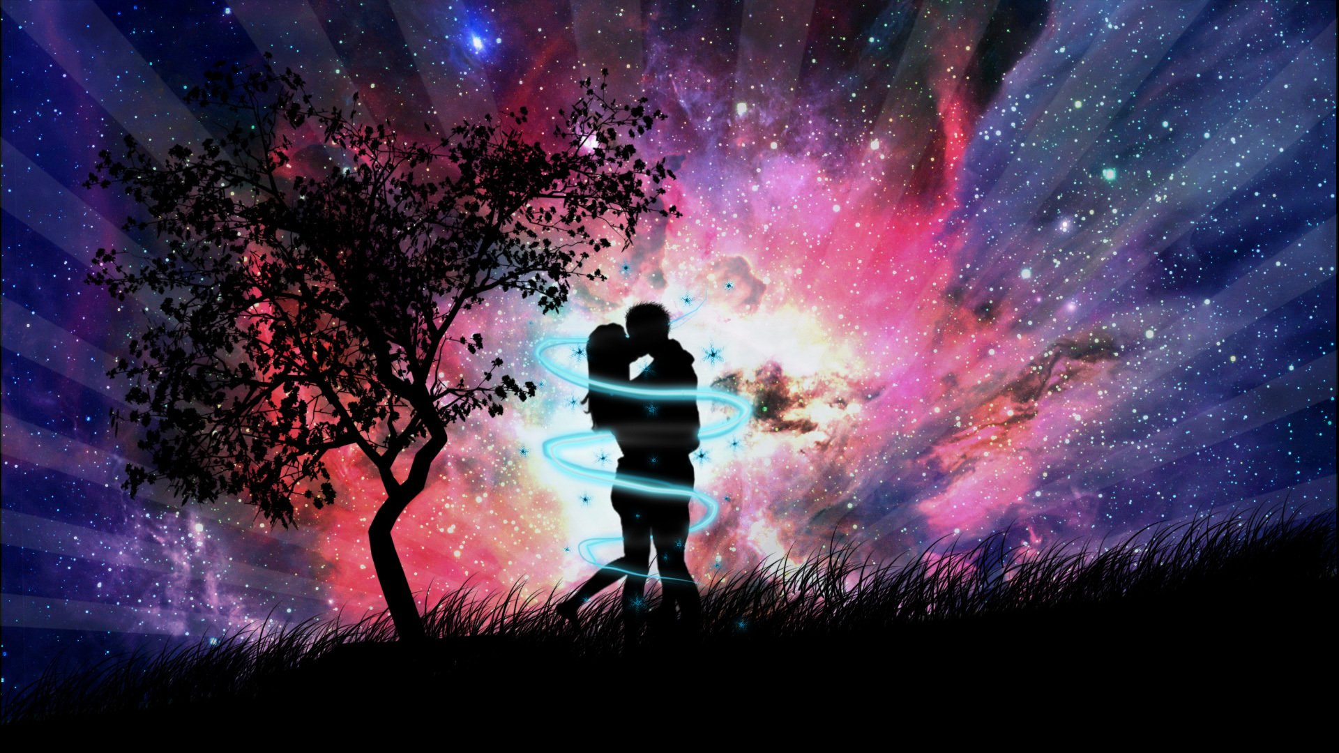 Artistic - Love  Kiss Romantic Wallpaper