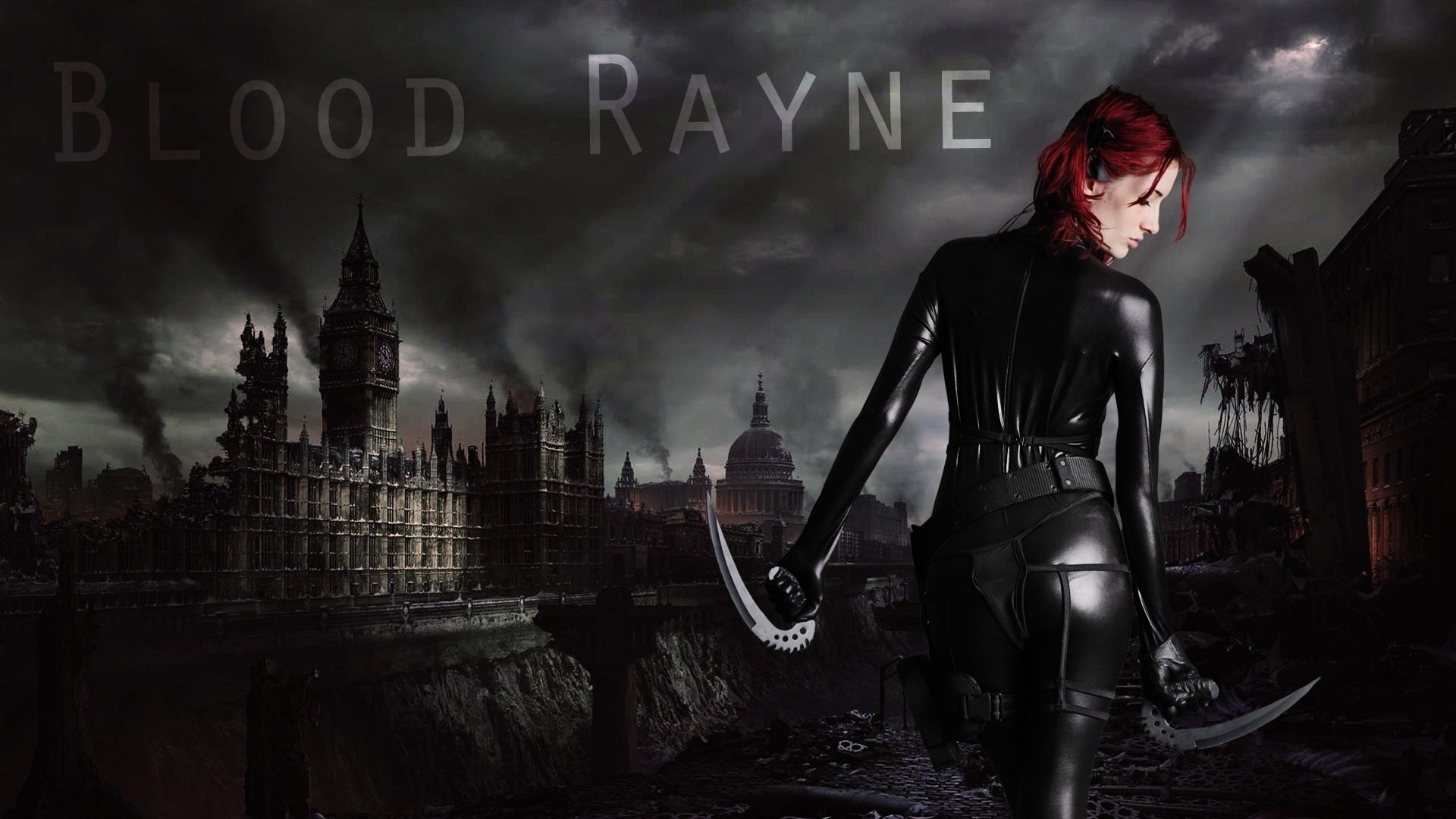 Celebrity - Susan Coffey  Cute Photography Eye Hair Movie Bloodrayne Weapon Latex Hellgate London Model Video Game Wallpaper