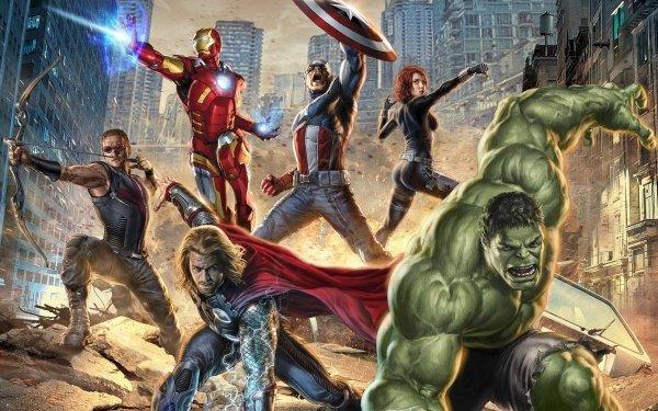 Comics Los Vengadores Thor Ojo de Halcón Iron Man Hulk Viuda negra Capitan América Fondo de pantalla HD | Fondo de Escritorio