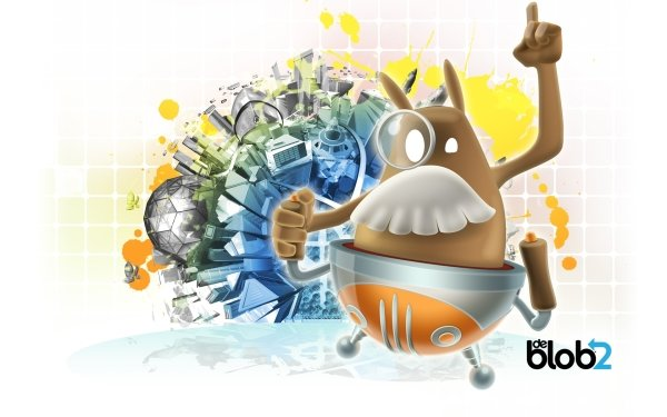 Video Game De Blob 2 Game HD Wallpaper | Background Image