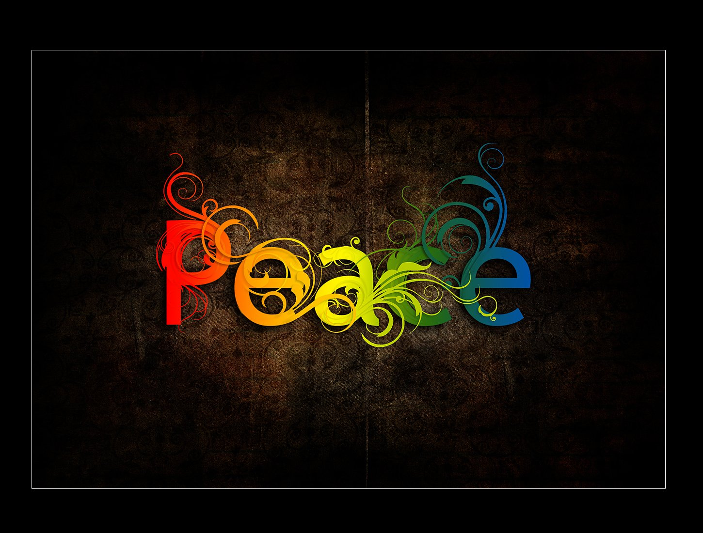 Misc - Word  - Color - Rainbow - Peace Wallpaper