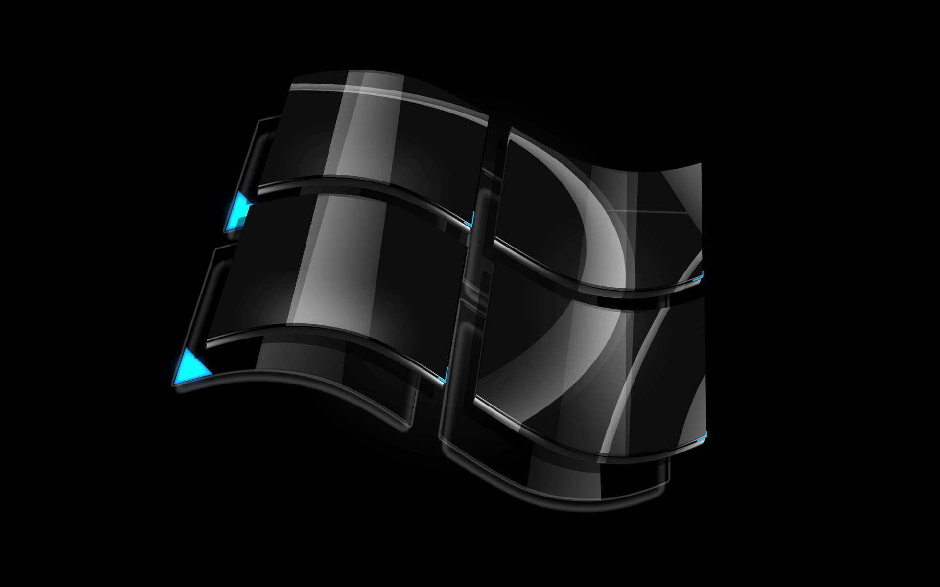 Black 3d windows full hd papel de parede and planos de for Papel de pared negro