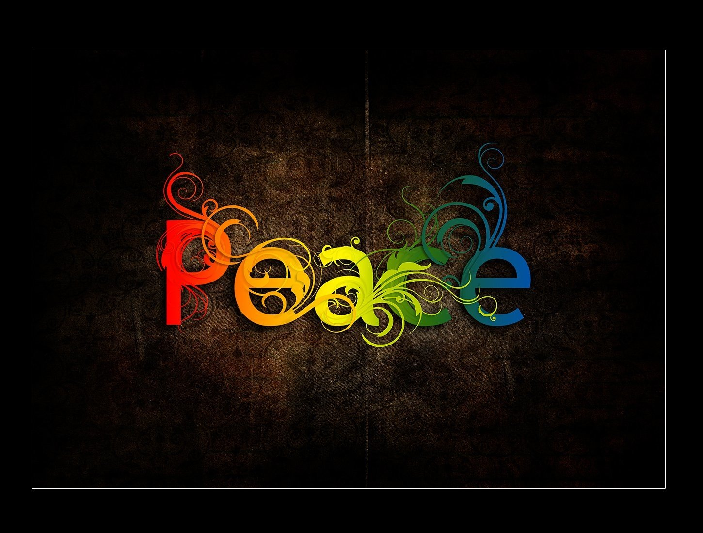Artistic - Peace  Colors Rainbow Wallpaper
