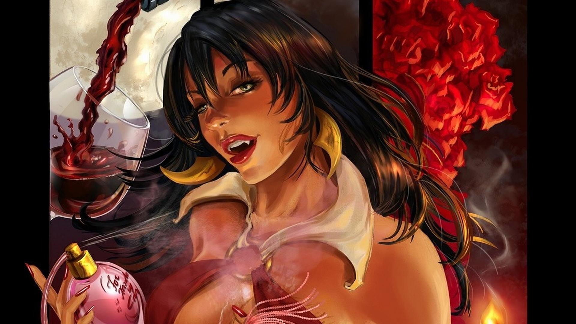 Comic erotic wallpaper