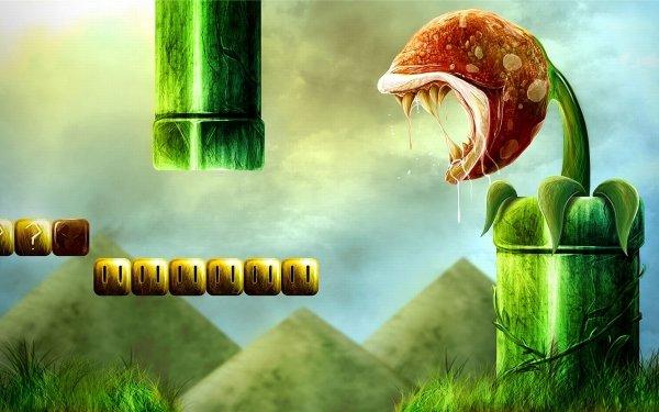 Jeux Vidéo Super Mario Mario Piranha Plant Fond d'écran HD | Arrière-Plan