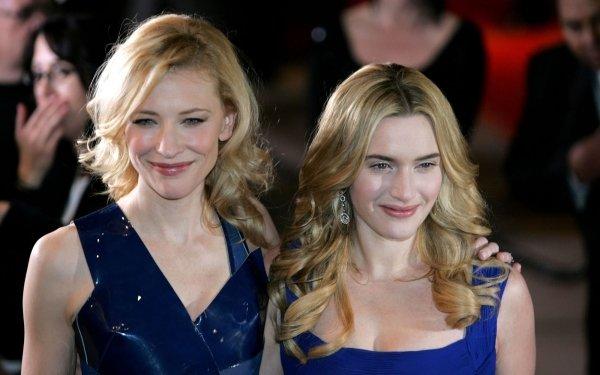 Celebridades Actor Cate Blanchett Kate Winslet Actress Fondo de pantalla HD | Fondo de Escritorio