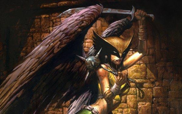Comics Hawkgirl DC Comics Wings Shiera Sanders Mace Sword Woman Helmet HD Wallpaper | Background Image