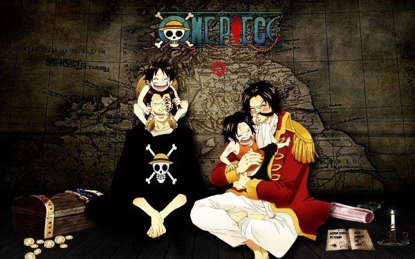 Anime One Piece Monkey D. Dragon Monkey D. Luffy Portgas D. Ace Gol D. Roger HD Wallpaper   Background Image