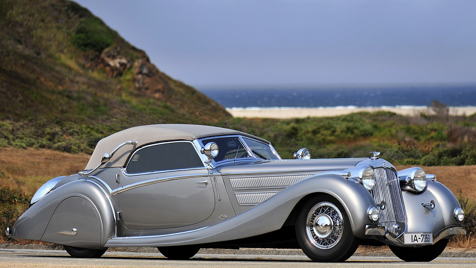 1937 Horsch 853 Sport Cabriolet Full HD Wallpaper And Background Image