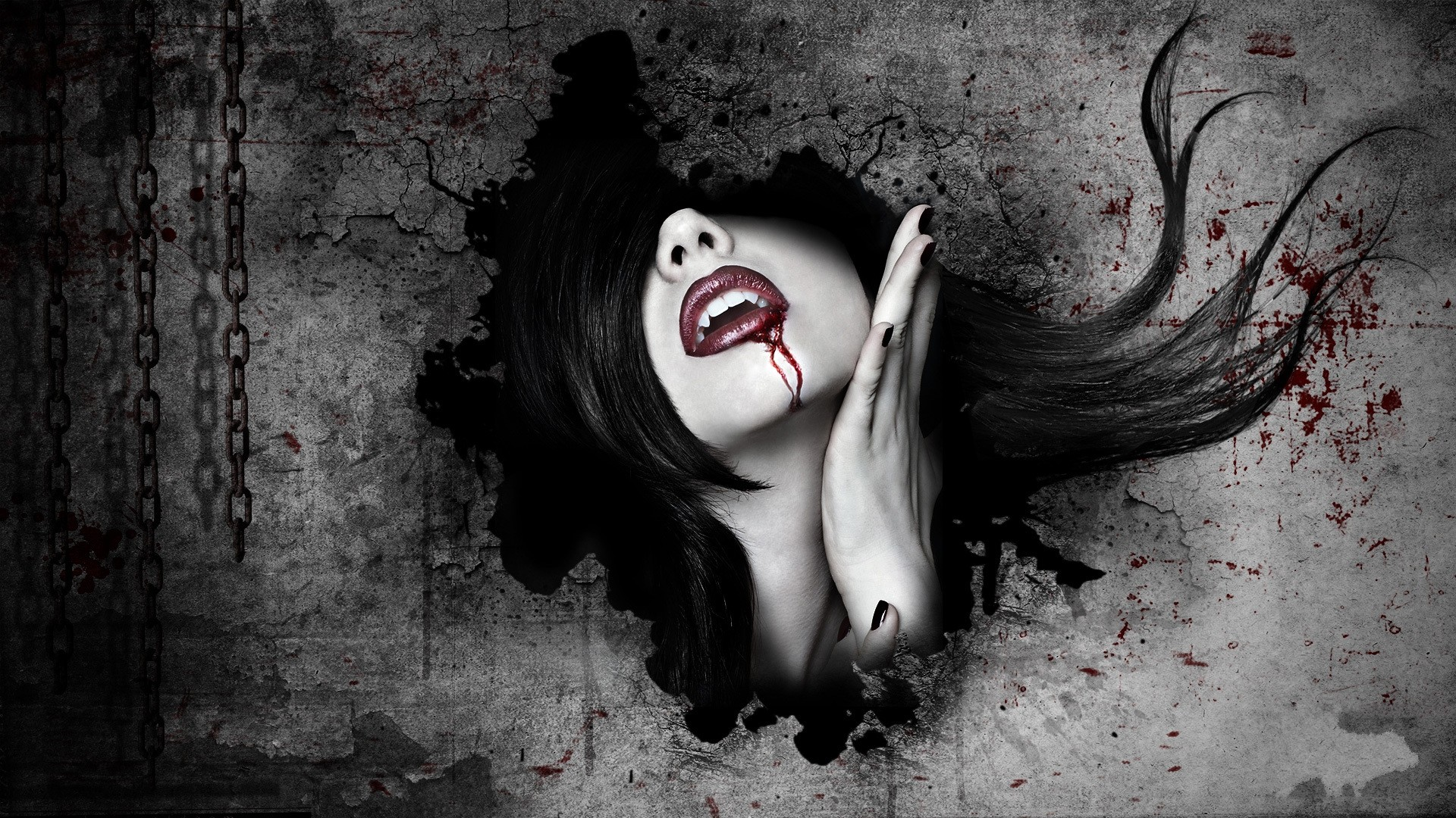 Thirsty Vampire Hd Wallpaper Background Image 1920x1080 Id