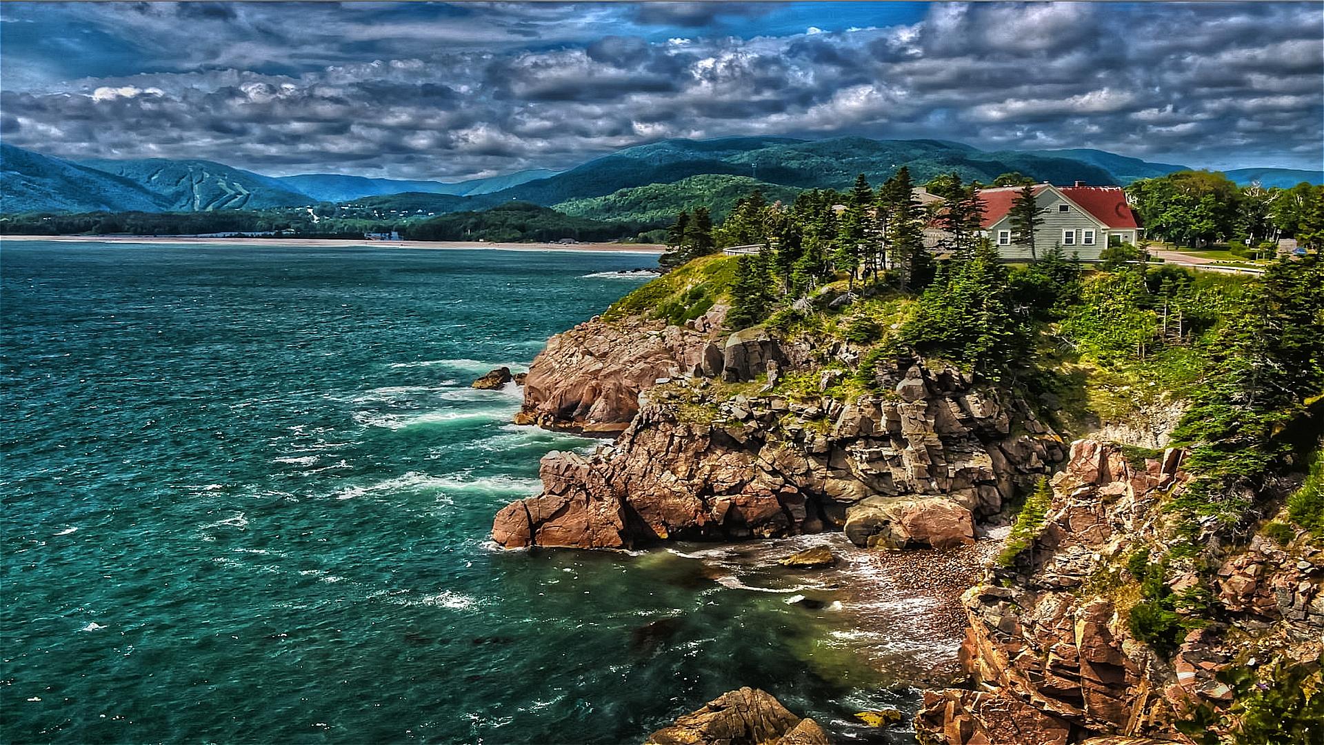 Photography - HDR  Sea Beach Wallpaper