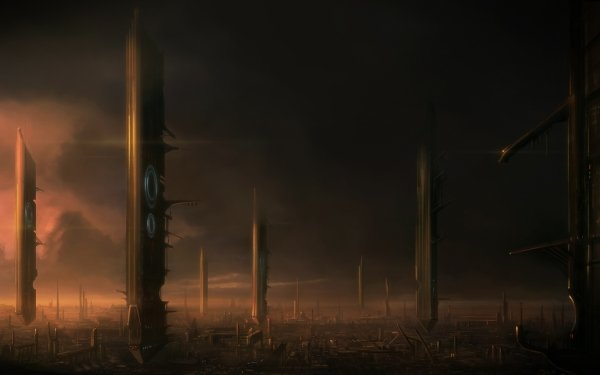 Sci Fi City HD Wallpaper | Background Image
