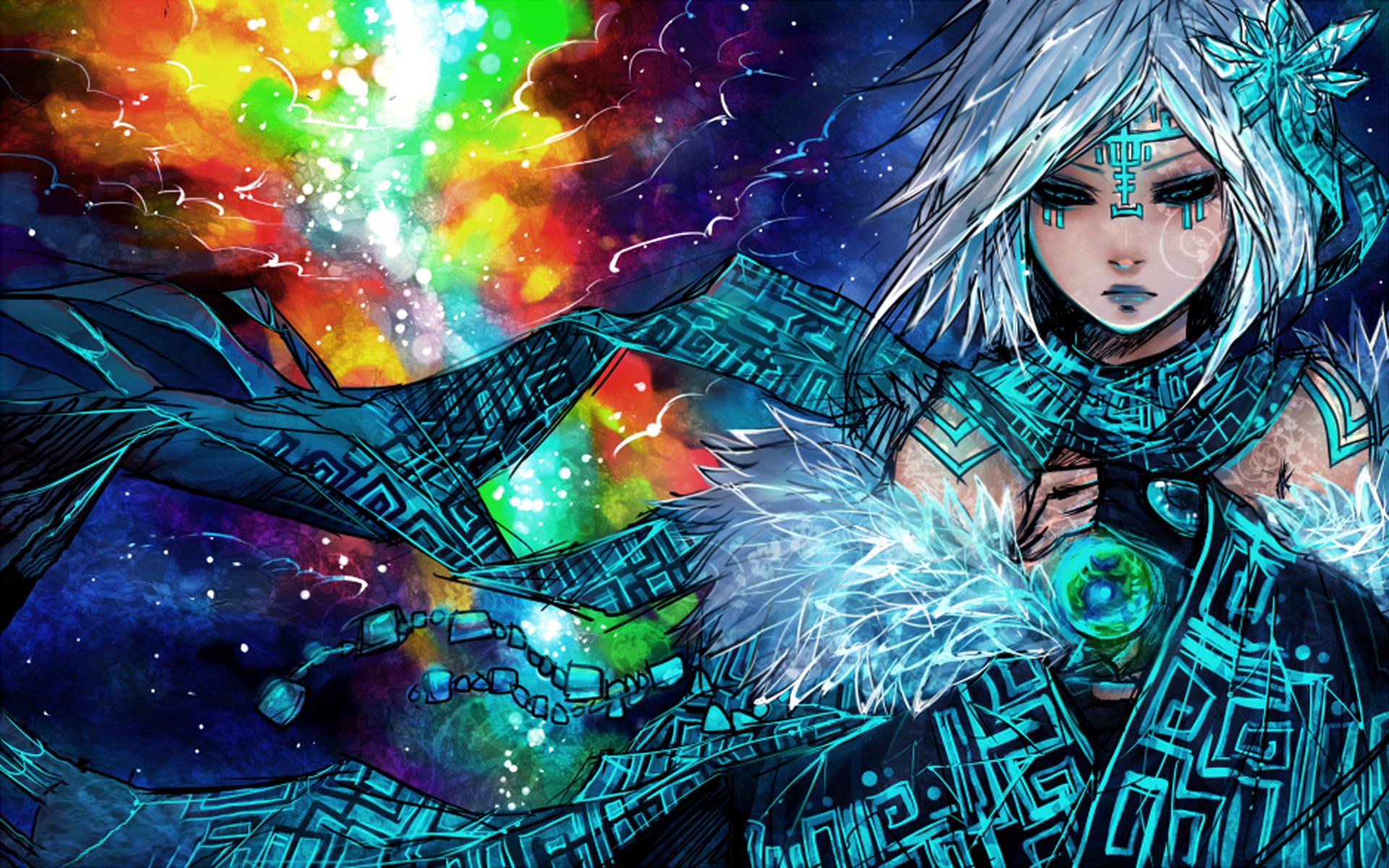 Anime - Desconocido  Woman Mage Fantasía Fondo de Pantalla