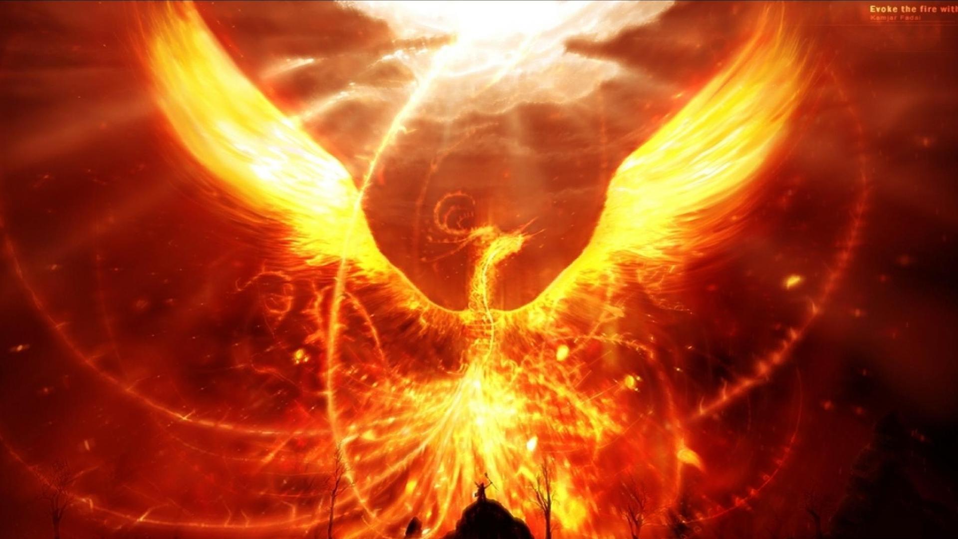 Fantasy - Phoenix  Fire Fantasy Wallpaper