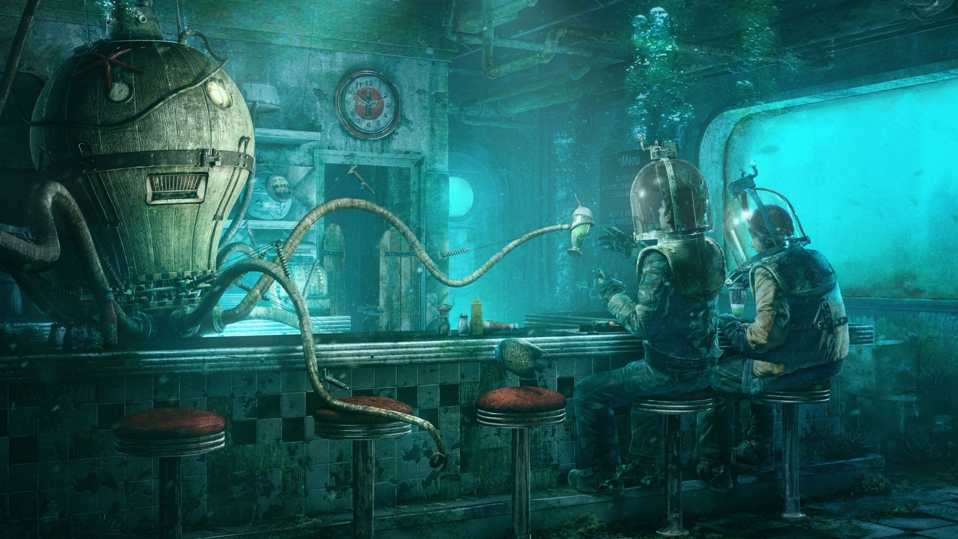 Deep Sea Diner Hd обои фон 1920x1080 Id177816