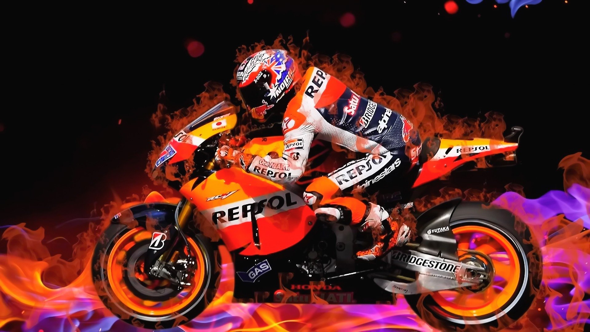 Motorcycle Racing Hd Wallpaper Background Image