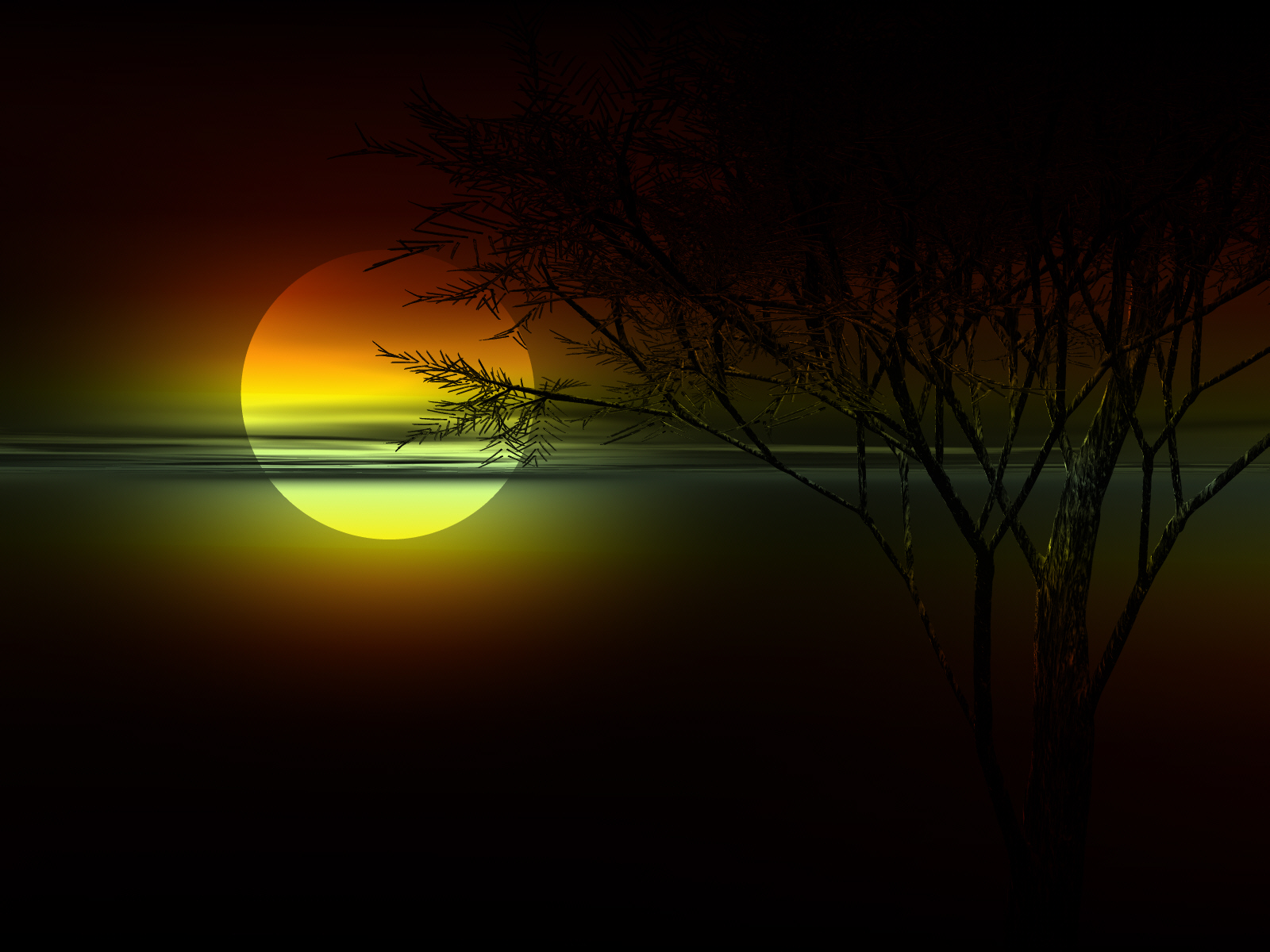 Artistic - Sunset  Wallpaper