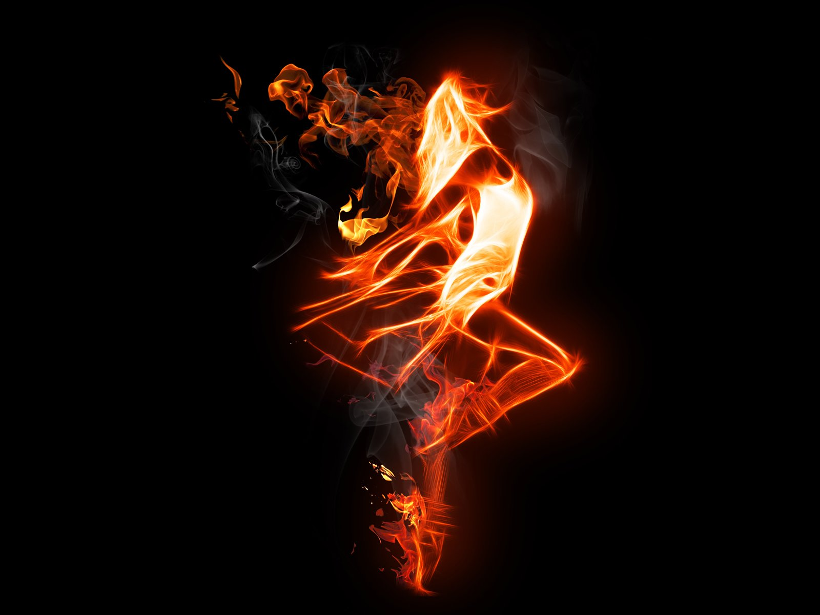 Female Fire Wallpaper And Background Image