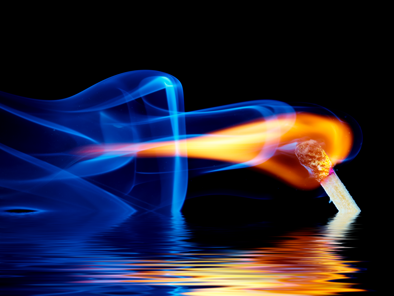 Fire In Water Wallpaper And Background Image