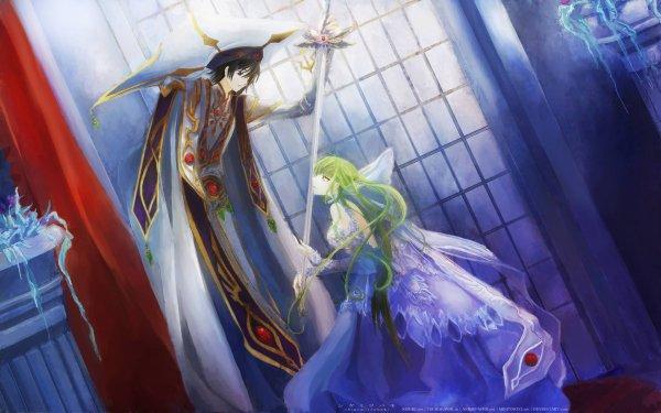 Anime Code Geass C.C. Lelouch Lamperouge Fond d'écran HD | Arrière-Plan