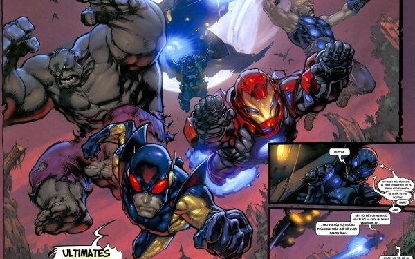Bande-dessinées Marvel Comics Yellowjacket Hulk Thor Captain America Iron Man Les Vengeurs Fond d'écran HD | Arrière-Plan