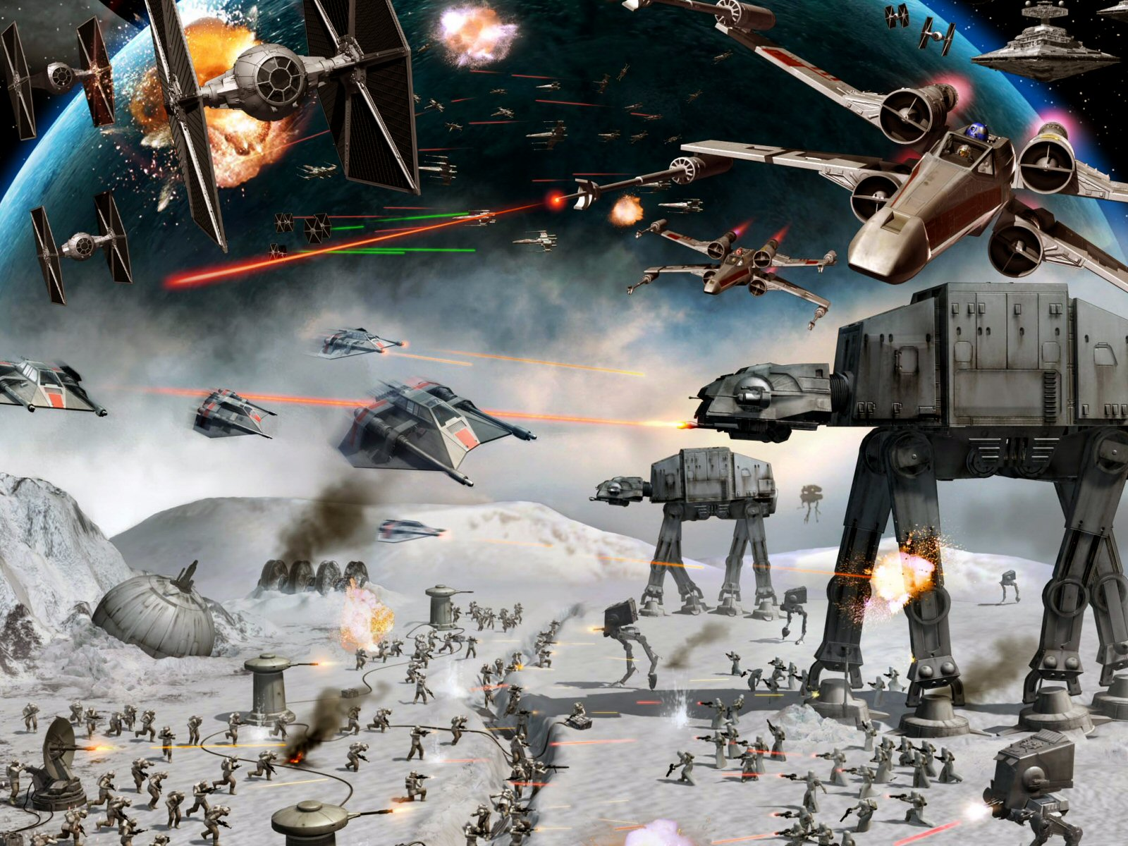 Star Wars Wallpaper And Background Image 1600x1200 Id 19104