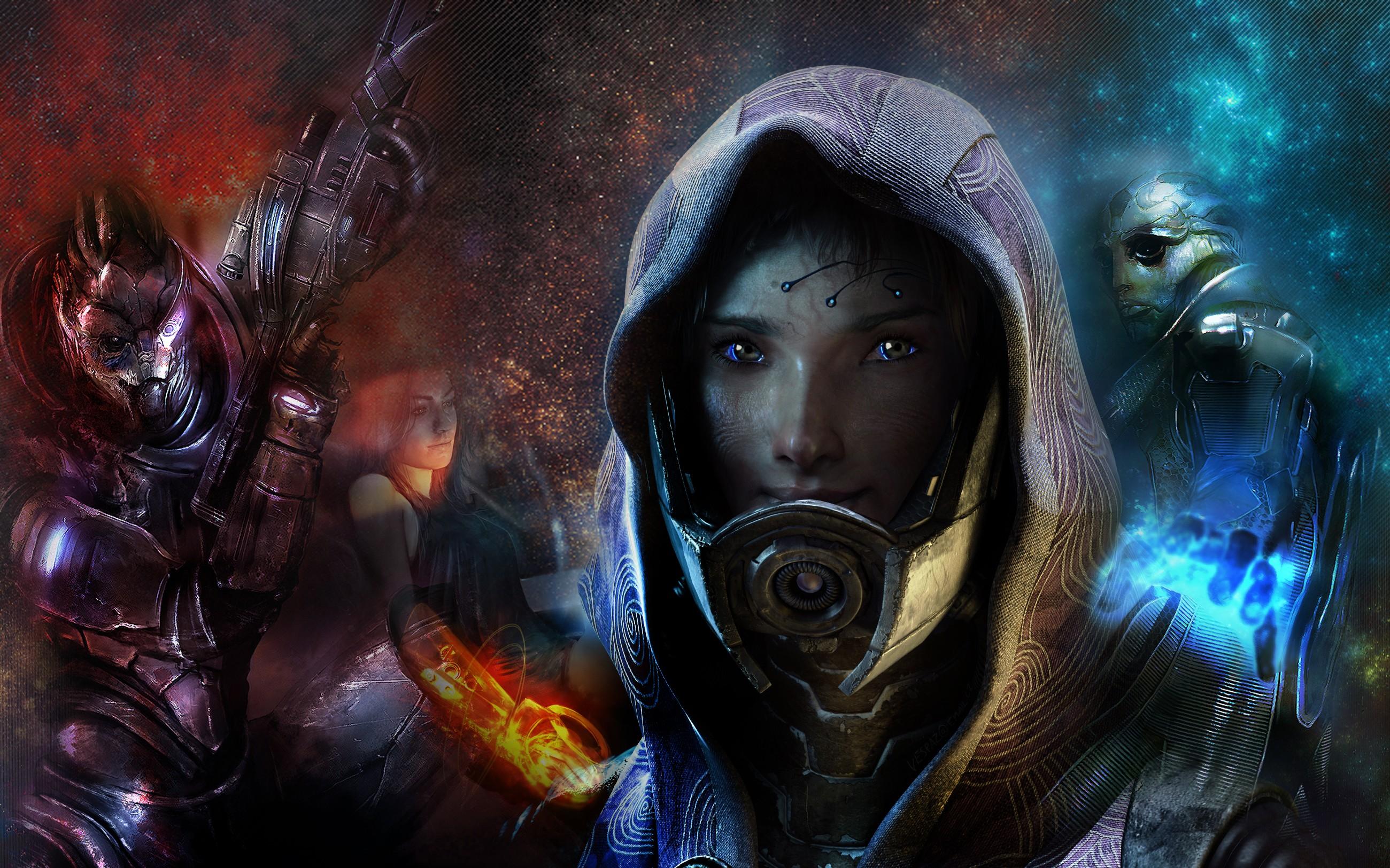 Video Game - Mass Effect 3  Garrus Vakarian Thane Krios Tali'Zorah Miranda Lawson Wallpaper