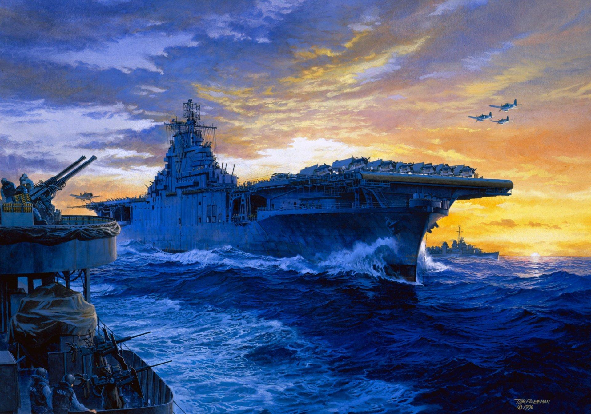 USS Yorktown HD Wallpaper | Background Image | 2738x1920 ...