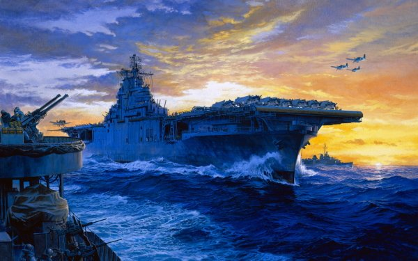 Military United States Navy Warships USS Yorktown Aircraft Carrier HD Wallpaper   Background Image