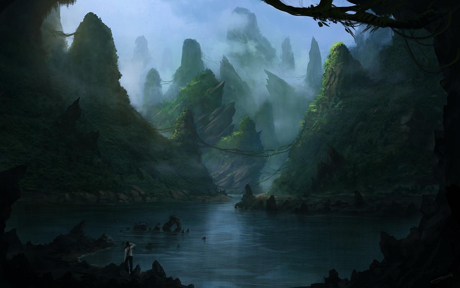 fantasy landscape wallpaper pictures - photo #15