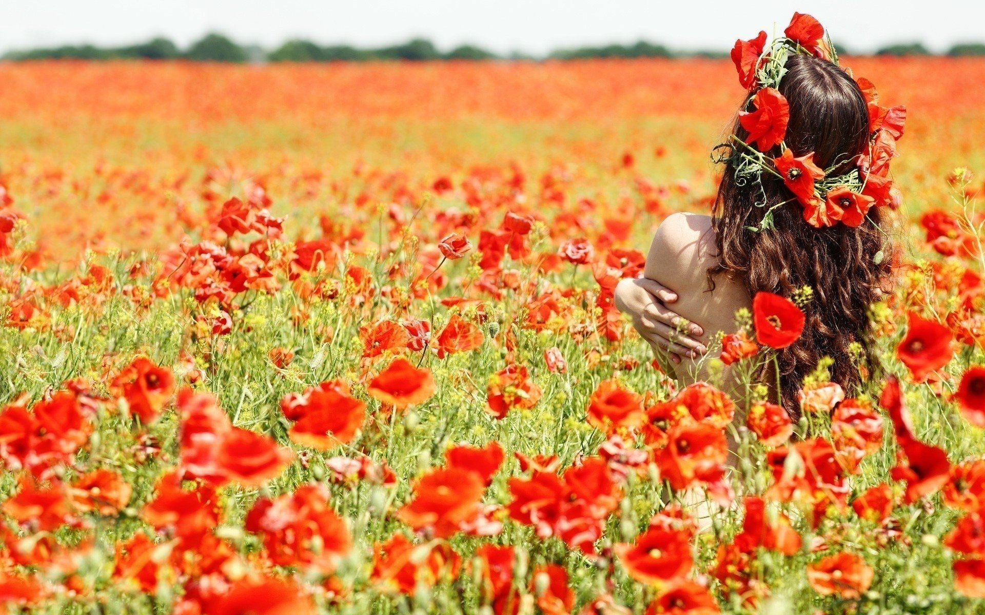 Photography - Women  Flower Wallpaper
