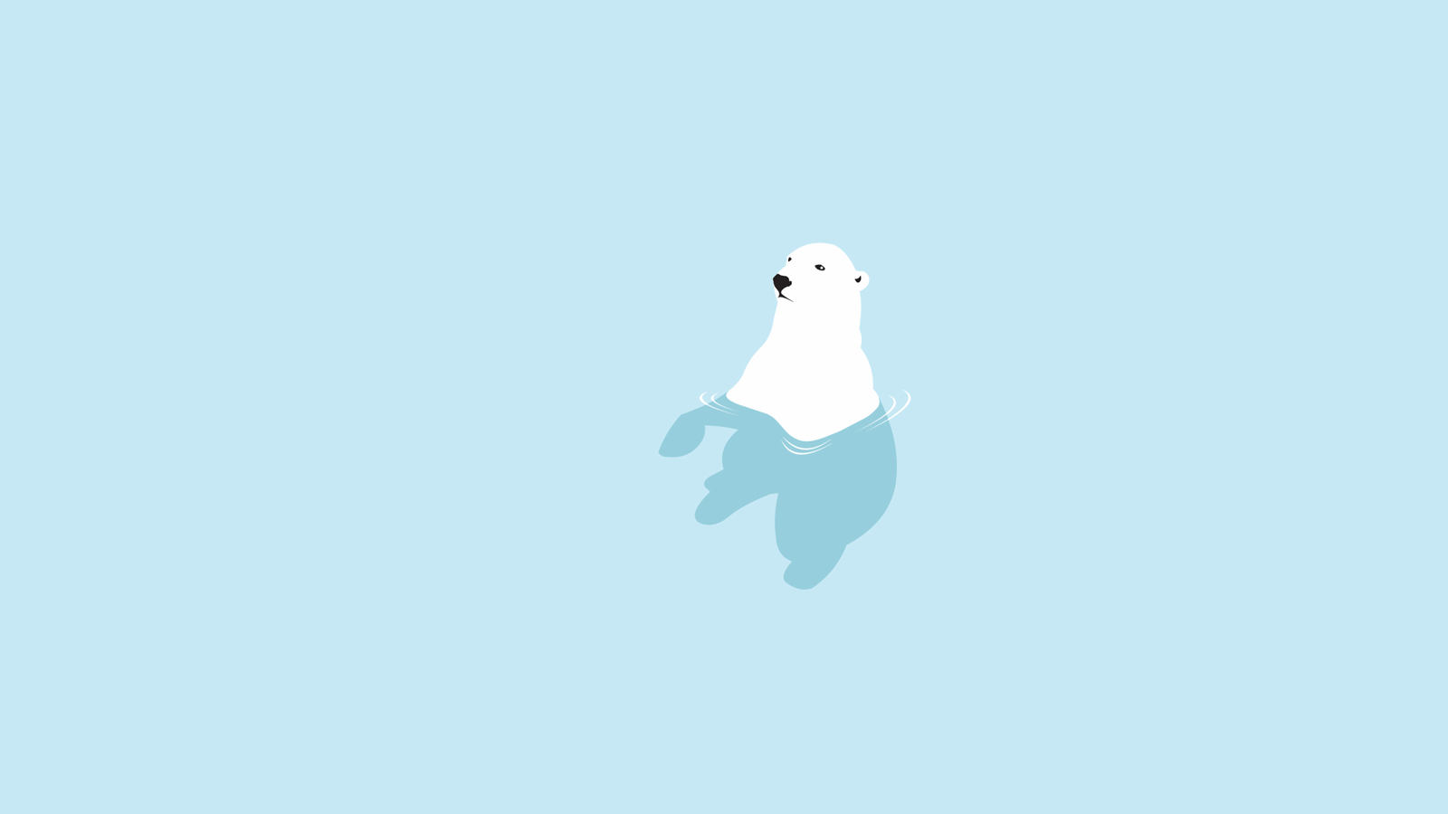 Cartoon - Cute  Cartoon Polar Bear Wallpaper
