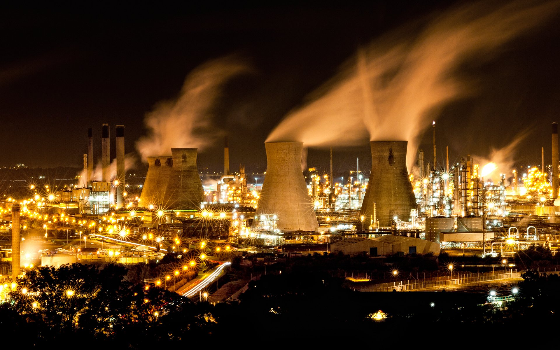 power plant full hd wallpaper and background image