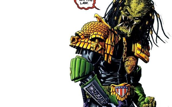 Comics Crossover Predator Alien Judge Dredd HD Wallpaper | Background Image