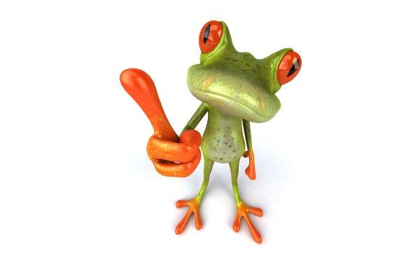 Artistic 3D Art Frog 3D HD Wallpaper | Background Image