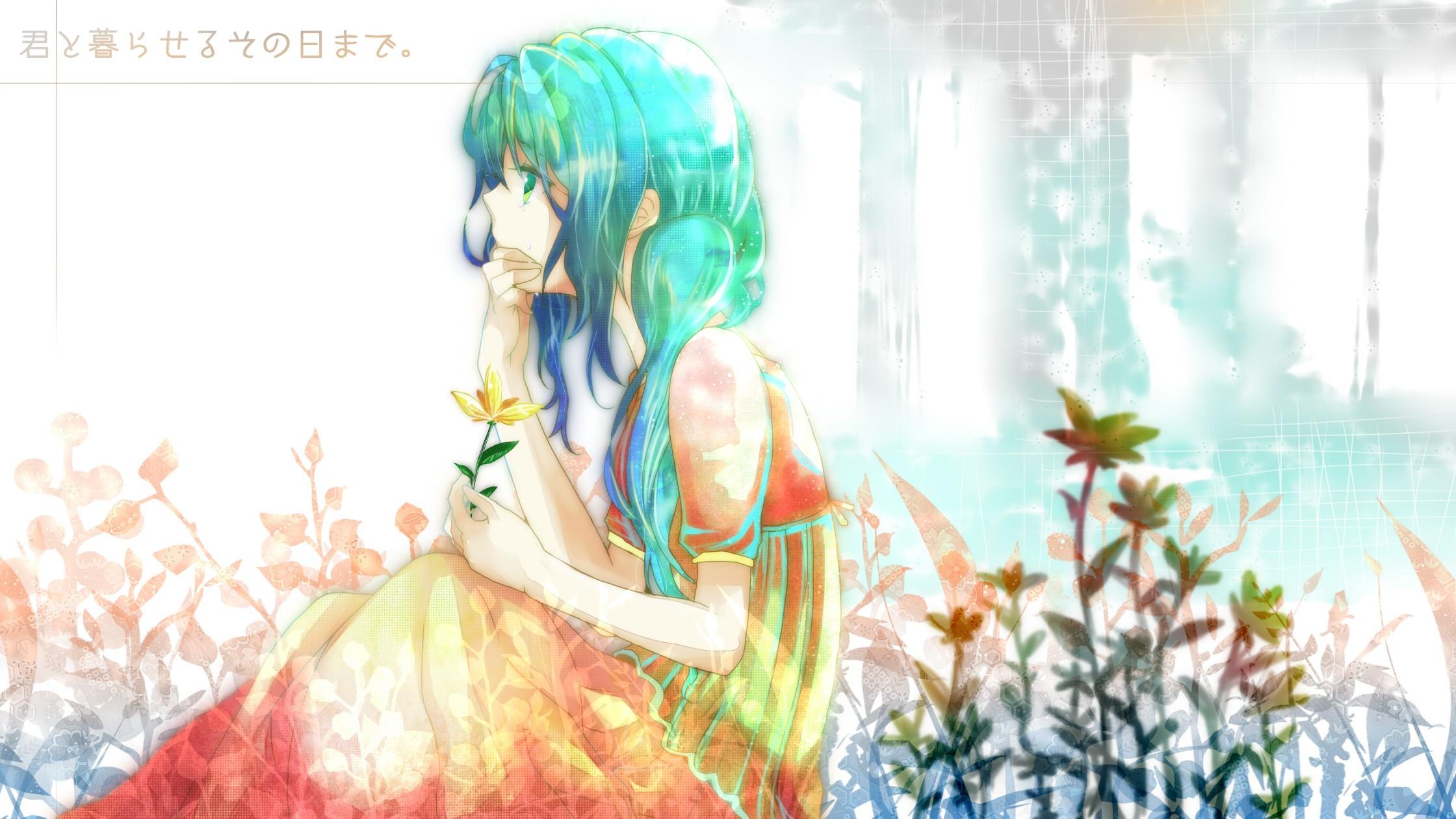Sad Anime Girl With Red Hair Blue Eyes  Hair Your Ideas