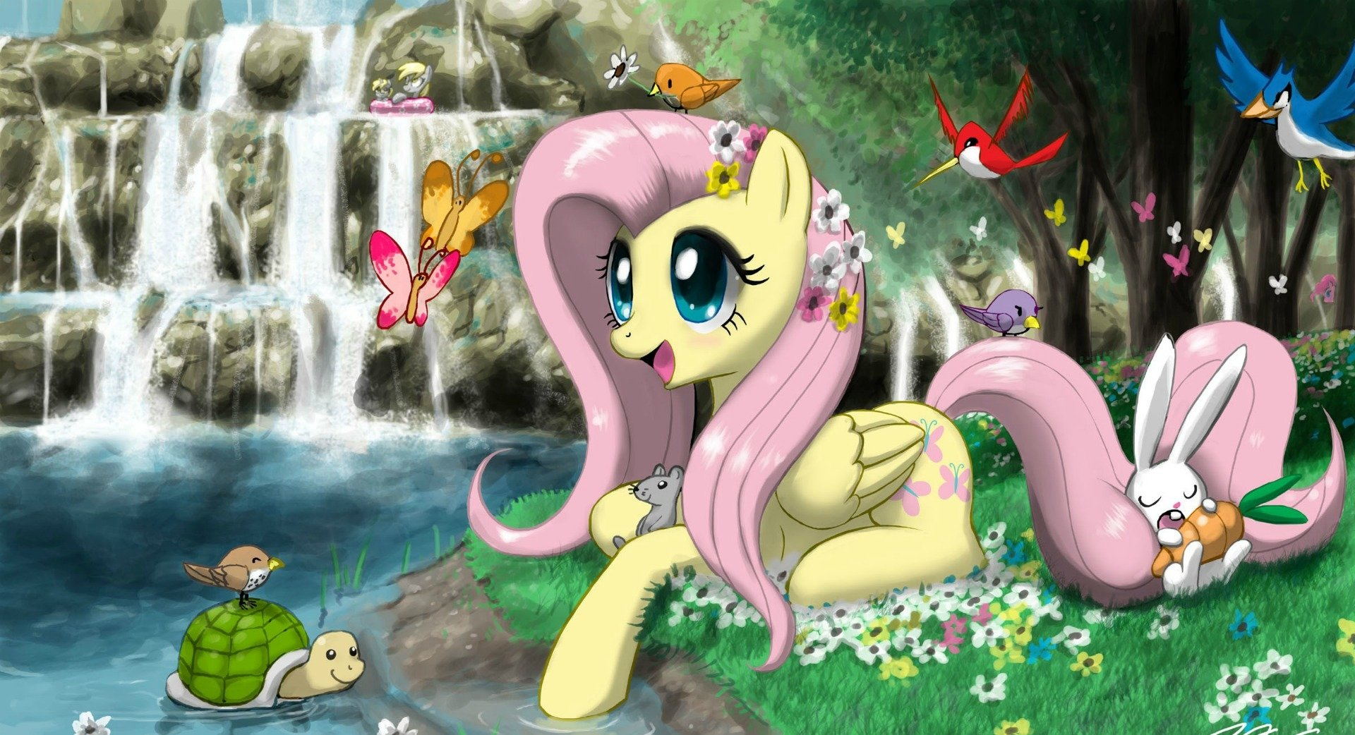 TV Show - My Little Pony: Friendship is Magic  My Little Pony Angel Bunny Derpy Hooves Wallpaper