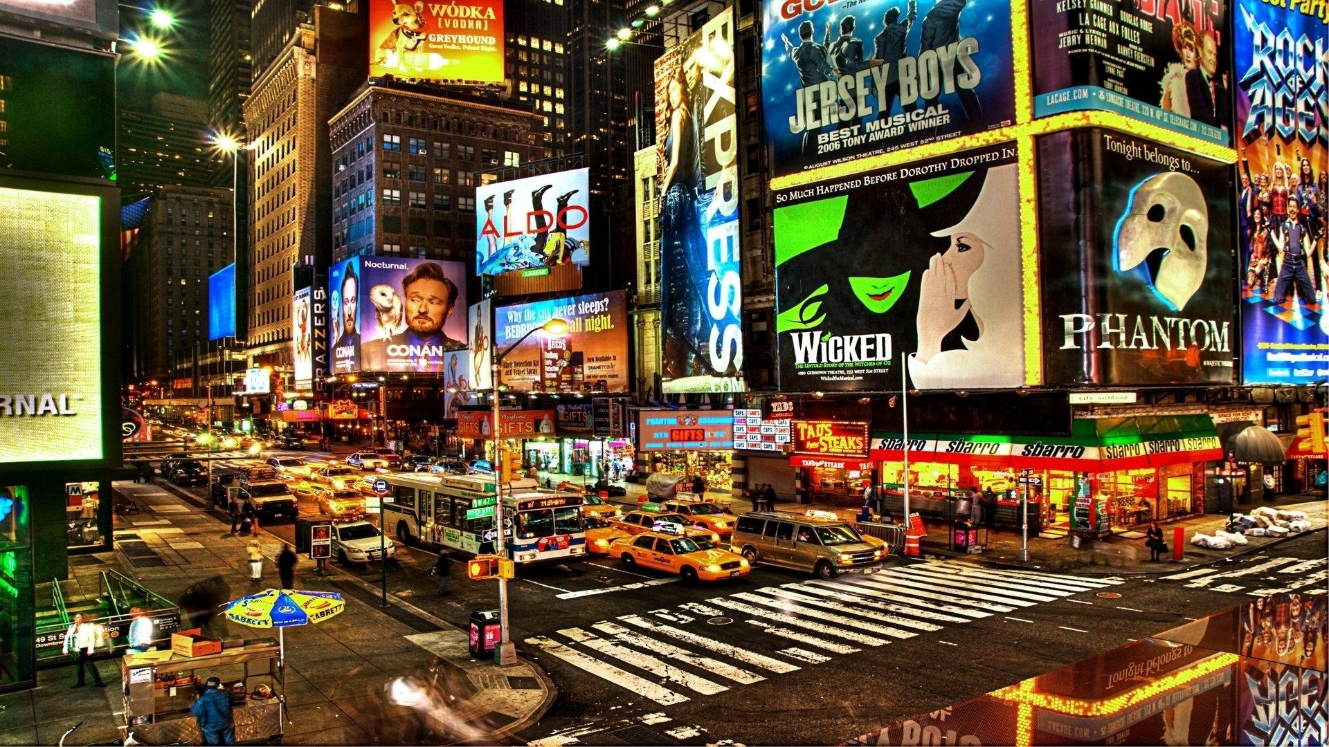 Midtown n y c full hd fond d 39 cran and arri re plan for Photo ecran times square