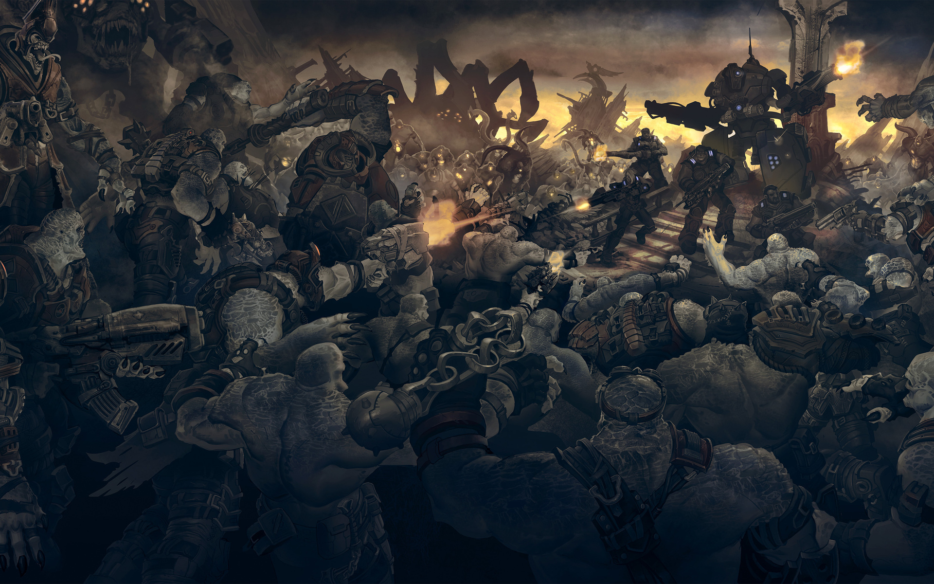 Gears Of War Full HD Wallpaper And Background Image