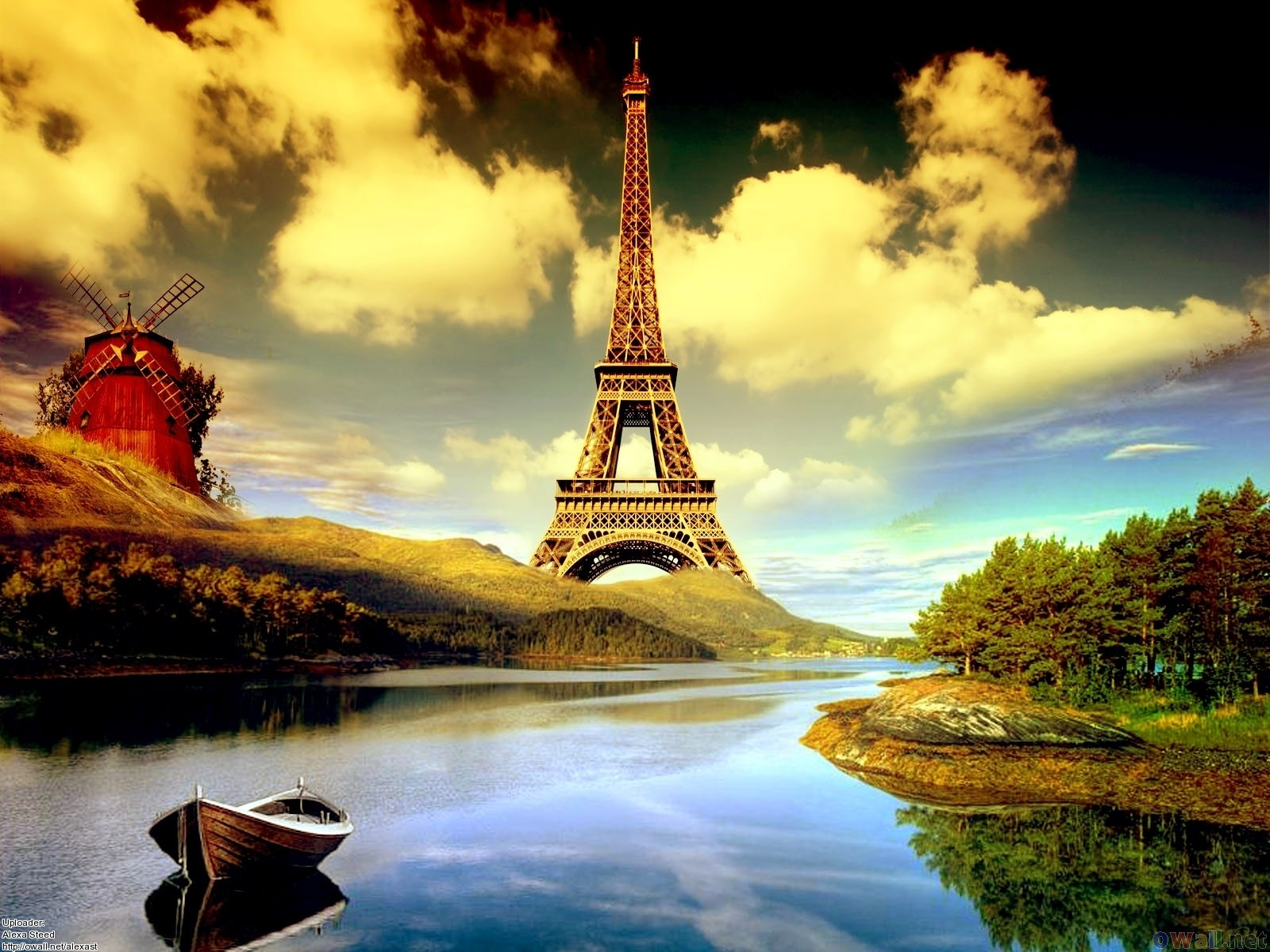 Photography Manipulation Paris France Monument Scenic