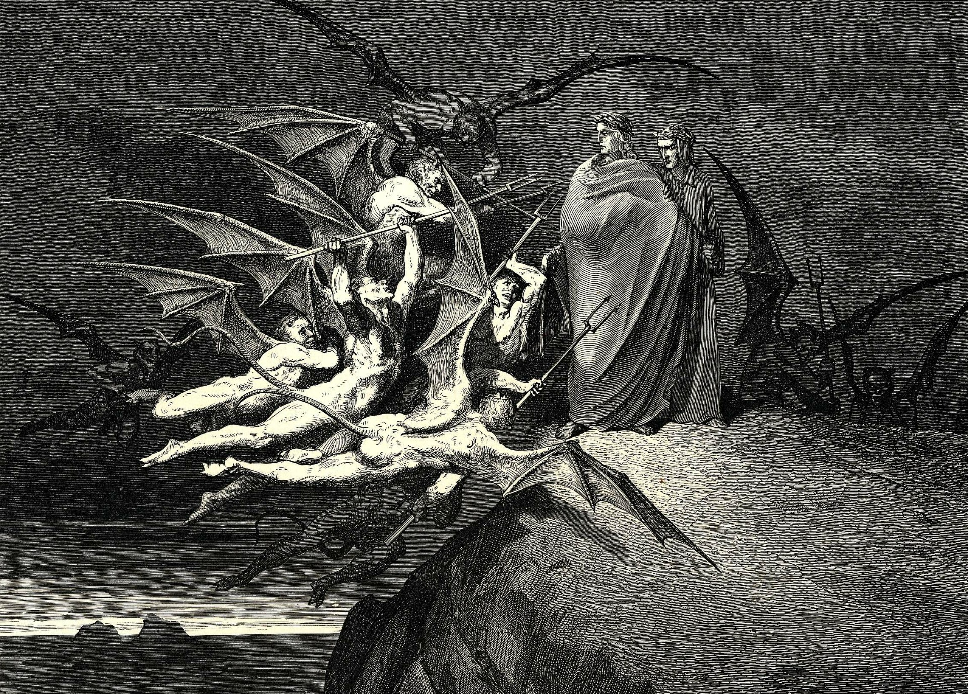 Dark - Demon  Angel Wallpaper