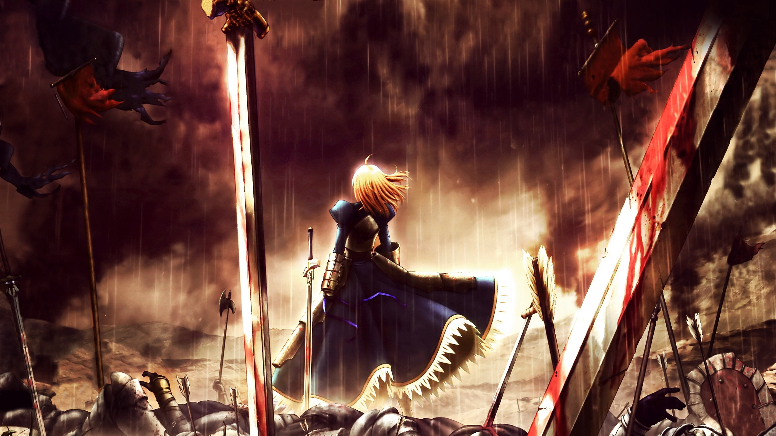 Fate Stay Night Hd Wallpaper Background Image 2560x1440 Id