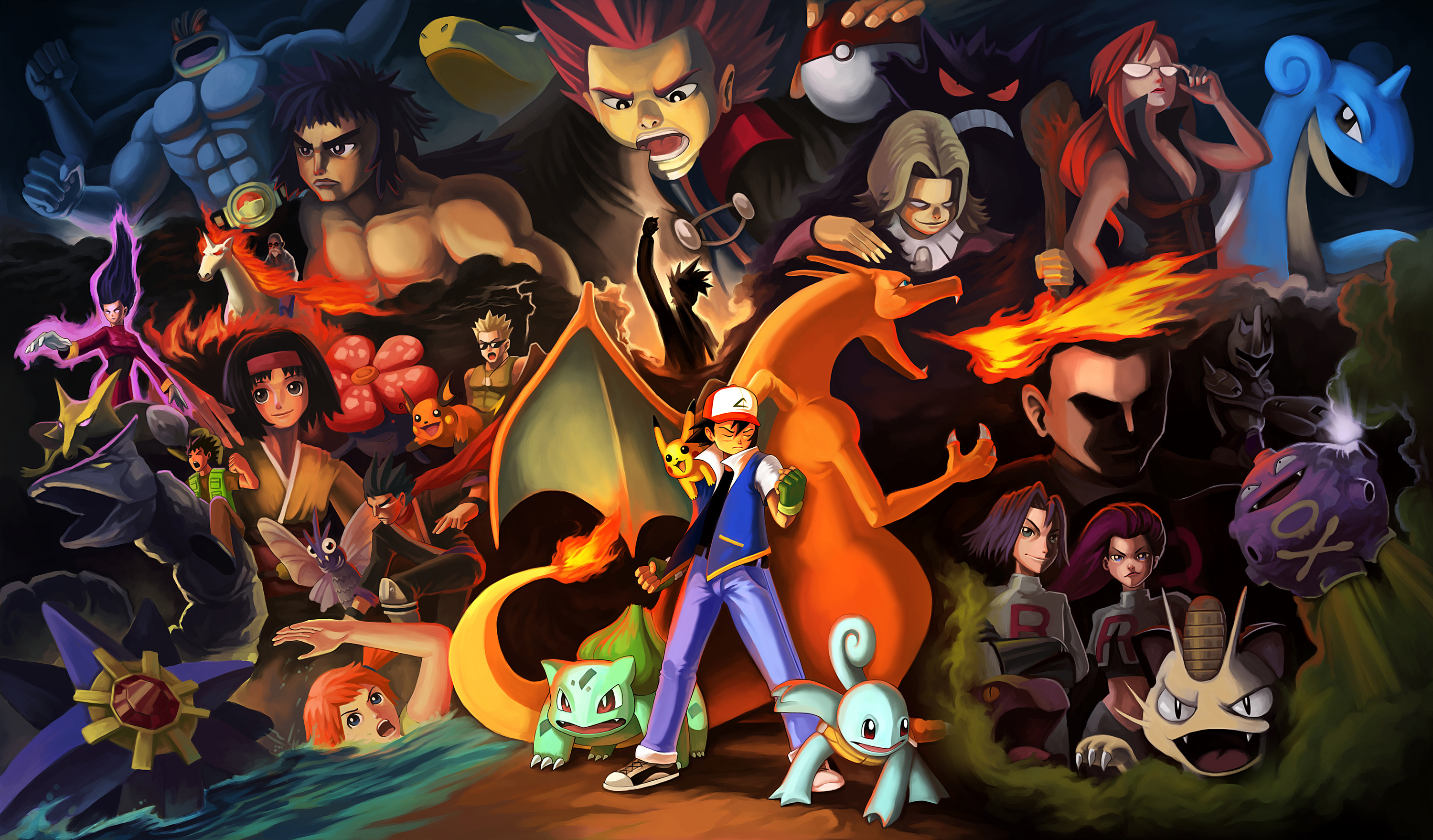 62 ash pok mon hd wallpapers backgrounds wallpaper abyss - Ash and pikachu wallpaper ...