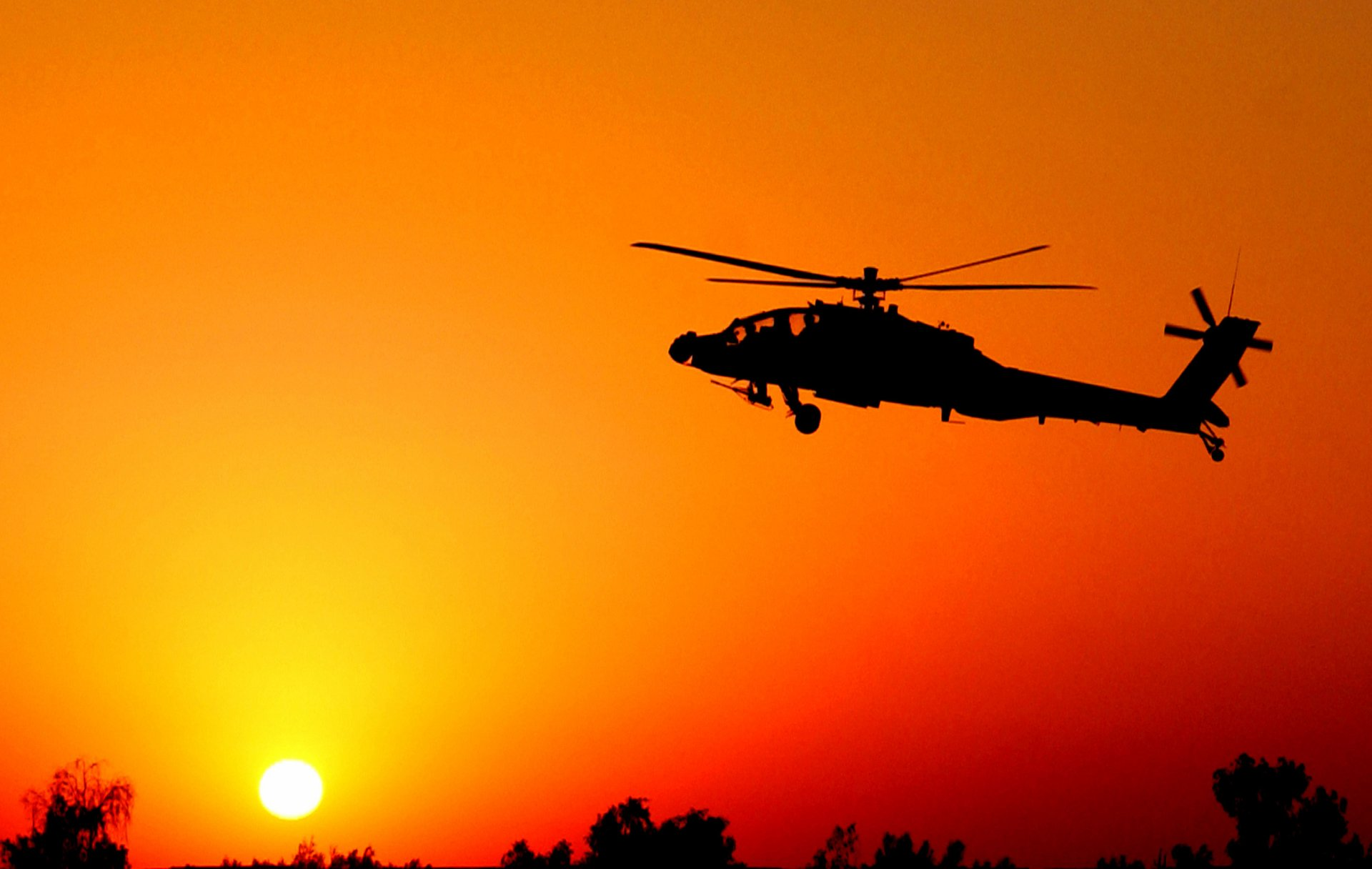 Military - Boeing Ah-64 Apache  Helicopter Wallpaper